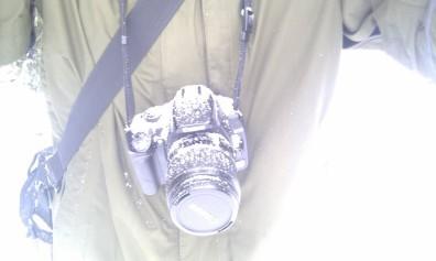 Zasněžený fotoaparát