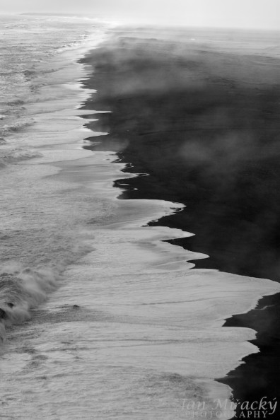 Black sand shore